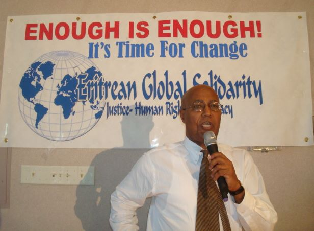 Seyoum Tesfaye - chairman of the Eritrean Global Solidarity