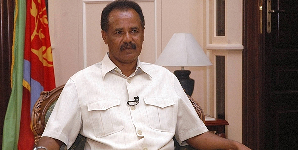 Eritrea's President Isaias Afwerki listens to a question during an interview with Reuters in the capital Asmara May 20, 2009.
