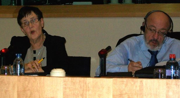 From left to right: Ms. Svensson and Mr. Michel at the hearing